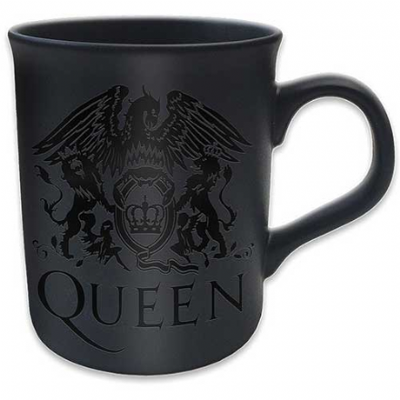 Queen Boxed Premium Mug Crest with Black Matt Finish